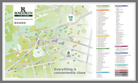 Tiffany Hill Amenities Map