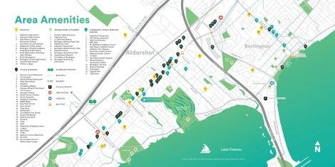 Affinity Condominiums Amenities Map