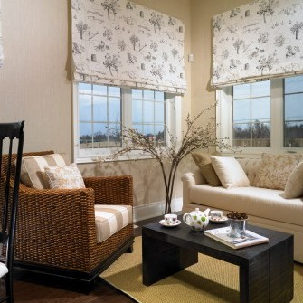 Wicker Living Room Design in Nobleton