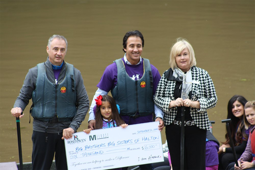 Rosehaven donation to Big Brothers, Big Sisters