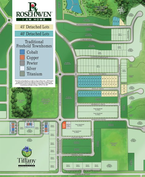 Tiffany Hill Site Plan